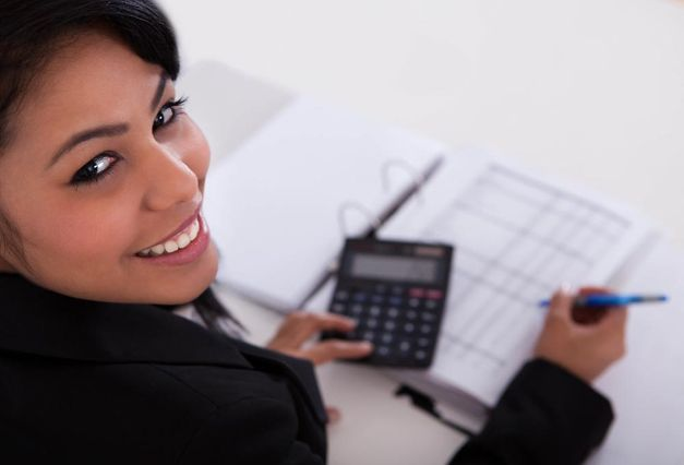 woman doing accounting